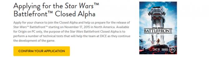 Star Wars: Battlefront. Старт Альфа-теста начнется со 2 июля.