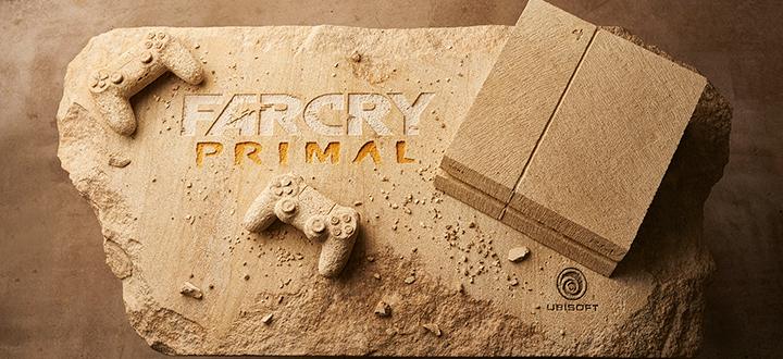 Ubisoft выдолбила из камня PlayStation 4. Таким образом разработчики отметили скорый релиз Far Cry Primal