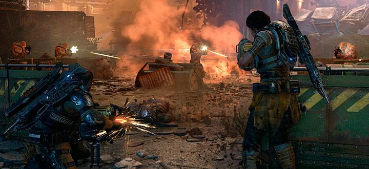 В новом геймплейном видео Gears of War 4 герои игры пытаются укрыться от смерча