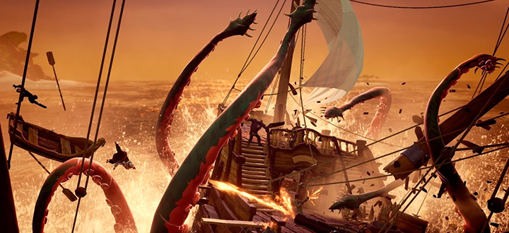 Новый геймплей Sea of Thieves - пиратской адвенчуры от студии Rare