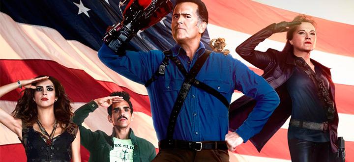 Постеры и кадры сериалов: «Эш против Зловещих мертвецов», «Полиция Чикаго», «Готэм», «Новенькая» и «Американская семейка»