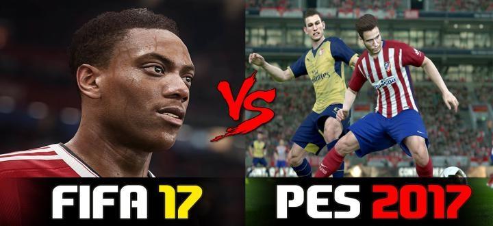 FIFA 2017 VS PES 2017 : Детище Konami проиграло борьбу.